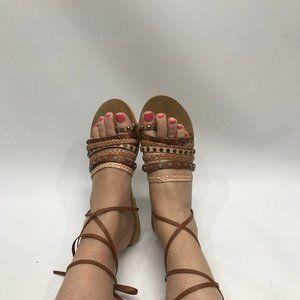 Lucky Brand Studded Wrap Sandals 9.5
